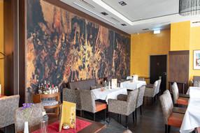 dekorative Wandgestaltung im Café Michaelis in Chemnitz